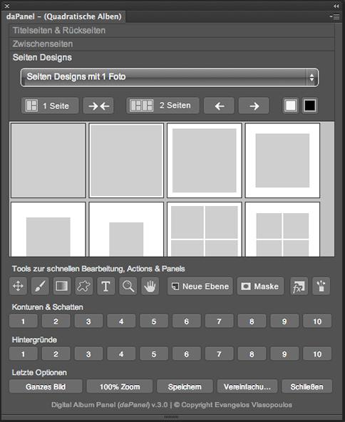 daPanel v3 - (Square Album Designs)